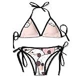 Women's Thong Bikini Suit Swimsuit Cute...
