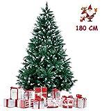 amzdeal rbol de Navidad 180cm, rbol de...