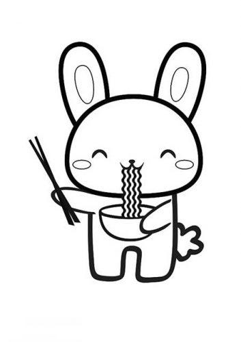 dibujos para colorear kawaii de animales