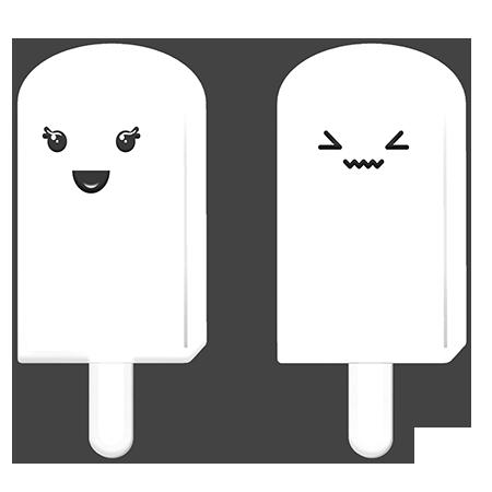 dibujos de helados kawaii para colorear