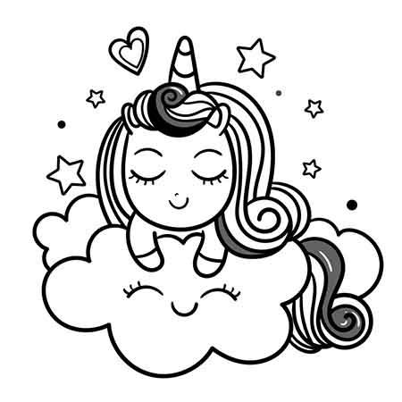 dibujo kawaii-de unicornio fácil