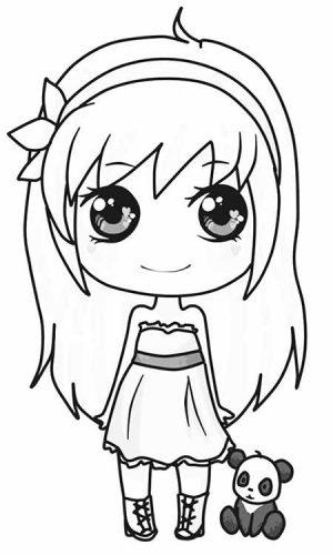 dibujos kawaii para colorear fáciles