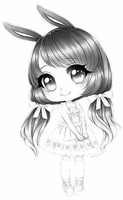 dibujos para colorear kawaii difíciles