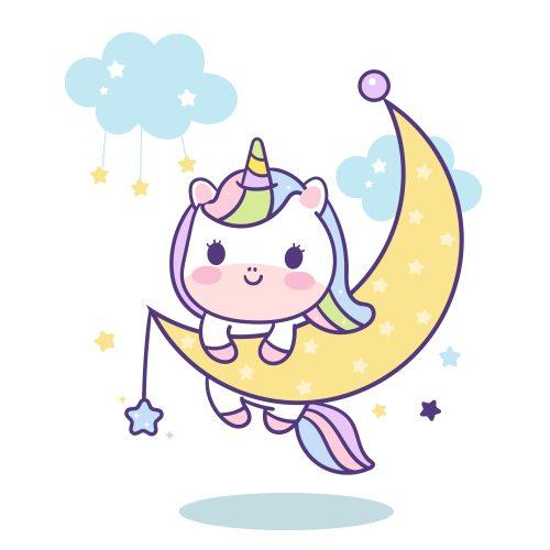 dibujo-unicornio-kawaii-coloreado