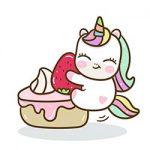 dibujos unicornios kawaii con comida