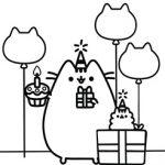imágenes para colorear kawaii cumpleaños