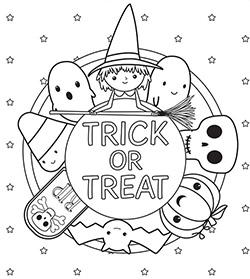 dibujos para colorear kawaii para imprimir halloween