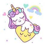 imagen de unicornio kawaii colorear